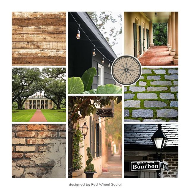 Never too late for a #moodboardmonday, right?! Seeing as tomorrow is Mardi Gras, I thought I'd pull this New Orleans inspired mood board out of the vault.  Created this one for the New Orleans based nonprofit my brother and his friends from college started, @recycletinyhomes. The group organizes long distance bike trips across the South to raise money to build tiny homes for the homeless population of New Orleans. Pretty cool, huh?