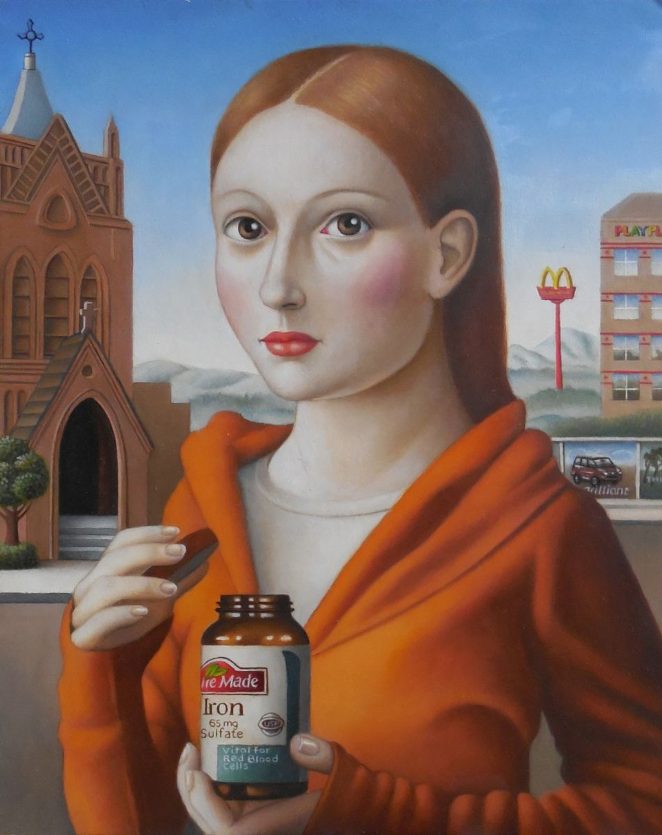 Young Woman with Vitamins