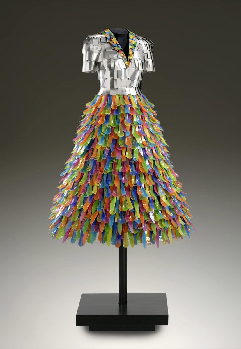 Carmen | Aluminium bodice, vacuum formed plastic ware skirt.jpg