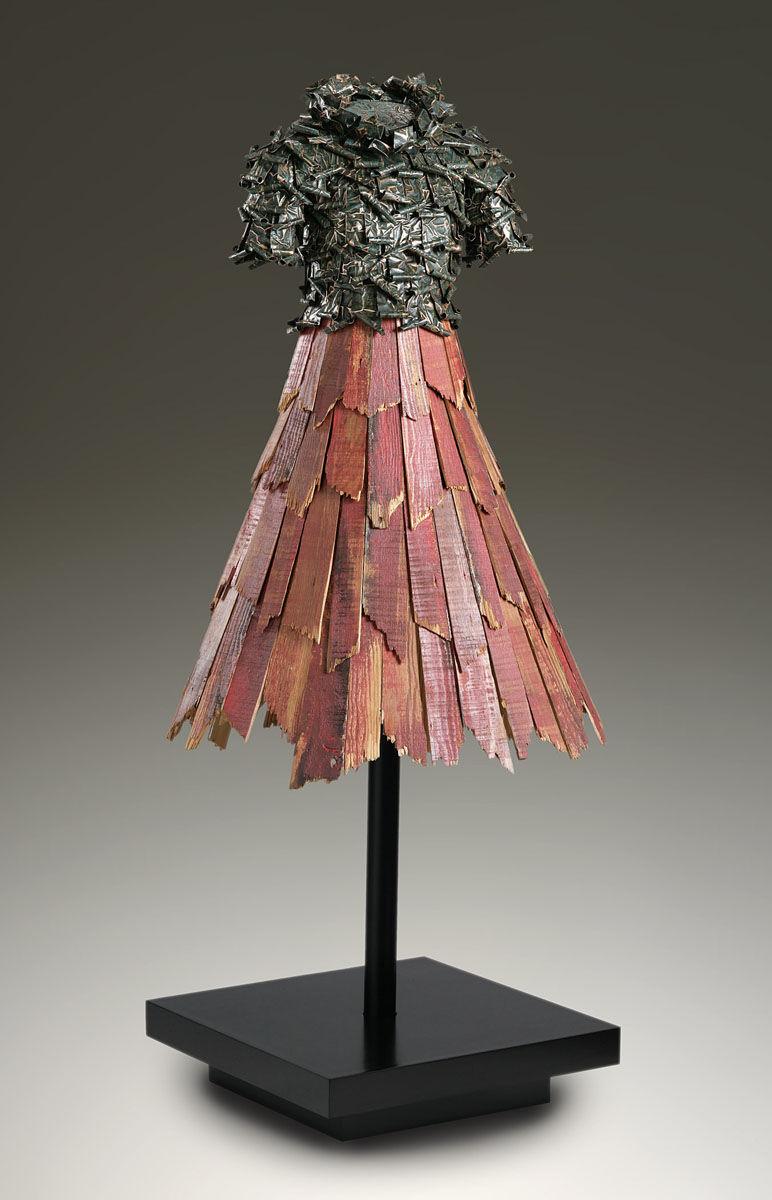 Alicia | Black patina copper bodice, red barn wood skirt .jpg