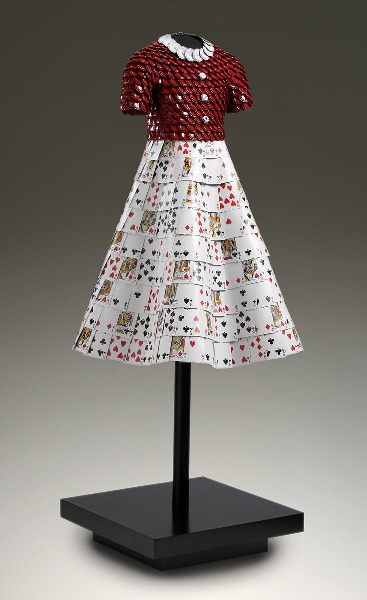 Jenna | Red cottel cap bodice, dice buttons, playing card skirt.jpg
