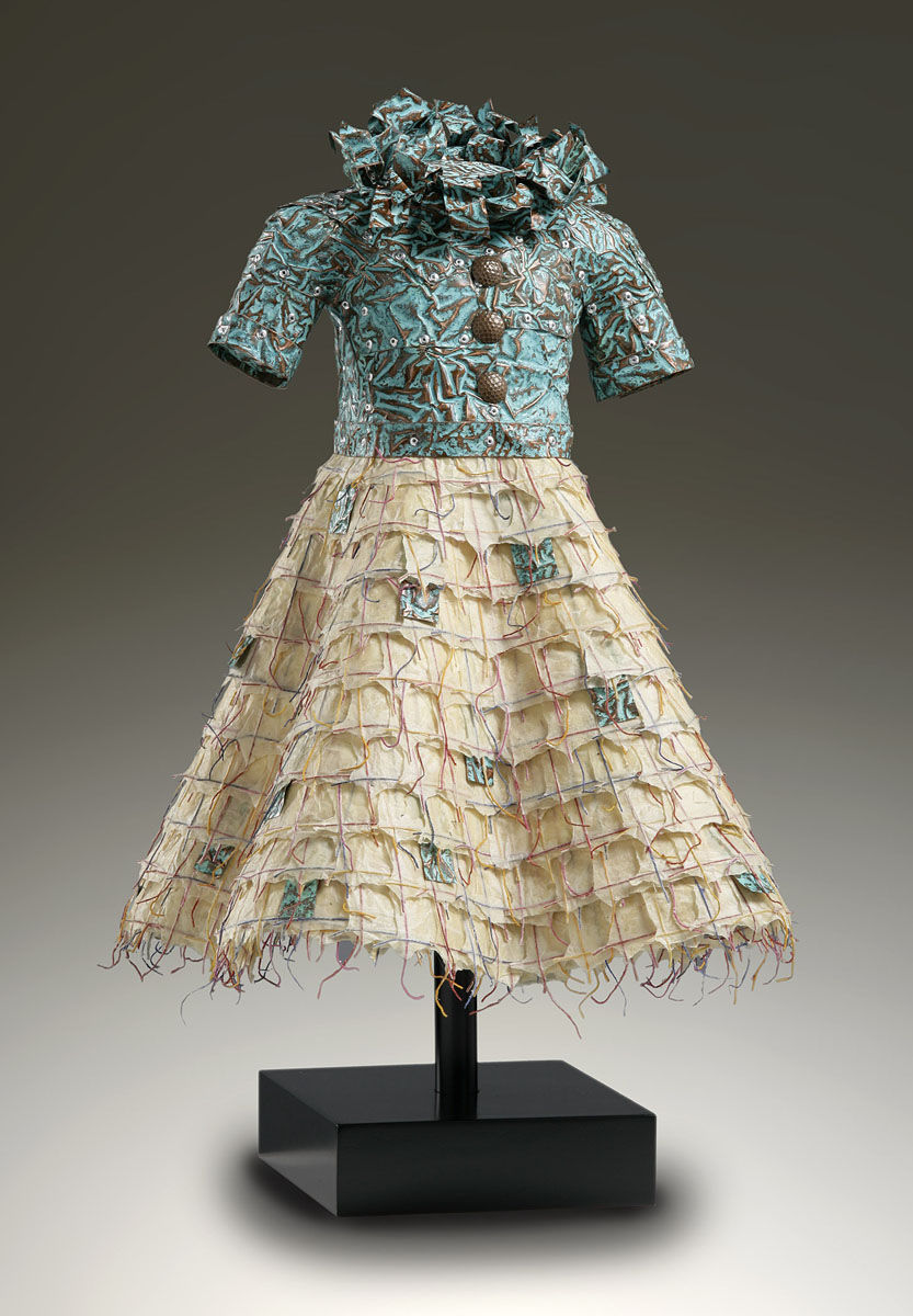 Ophelia | Green patina copper bodice, Nepalese paper skirt .jpg
