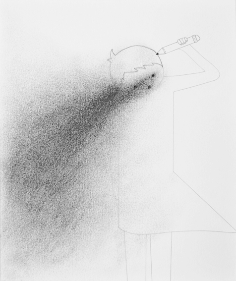 Untitled (Girl Shooting Herself with Pencil)