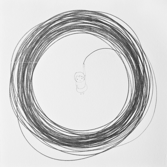 Untitled (Girl Drawing a Circle Around Her)