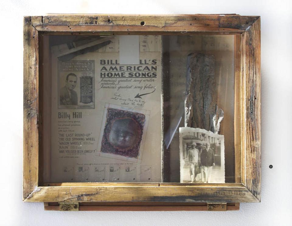 American Home | Sheet Music, clay, photograph, wax encaustic.jpg