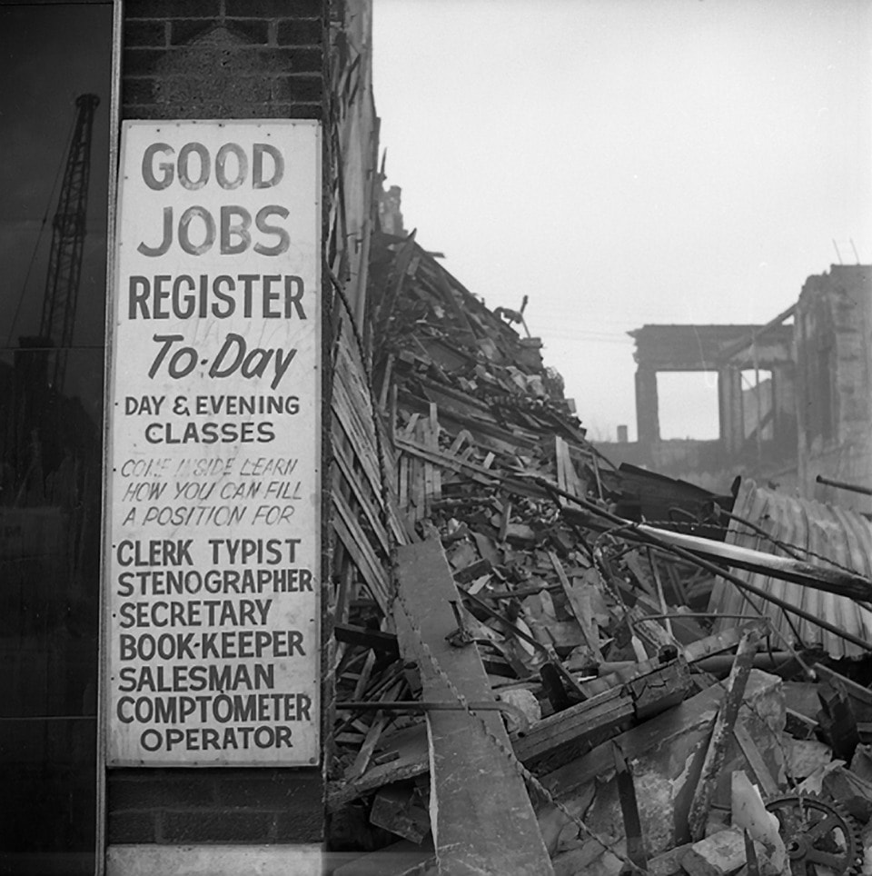 Chicago (Good Jobs Sign, Demolition Site) 1967