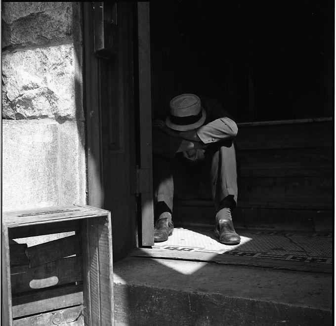 Maxwell St. Chicago (Man in Doorway) September 3, 1967