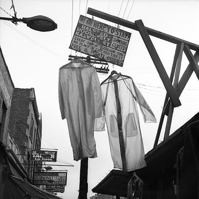 Maxwell St. Chicago (Two Shirts Hanging) 1967