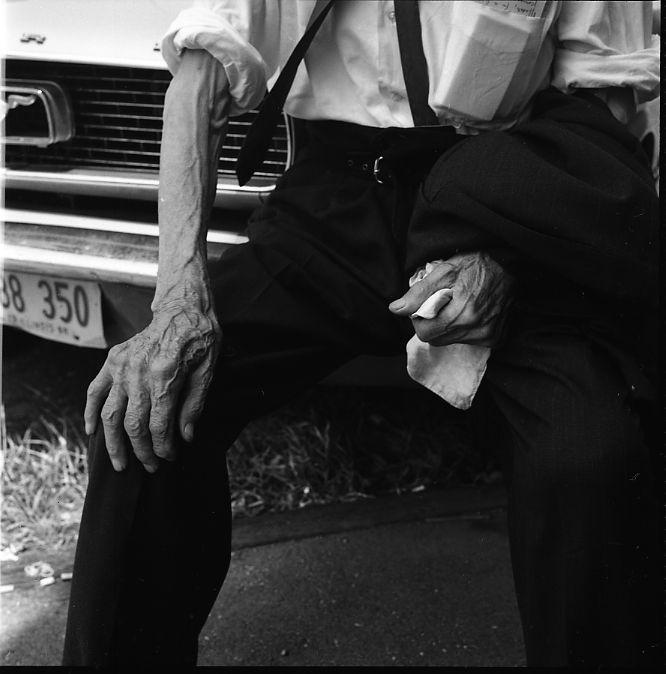 Untitled (Man Sitting on Car Bumper) July 1968