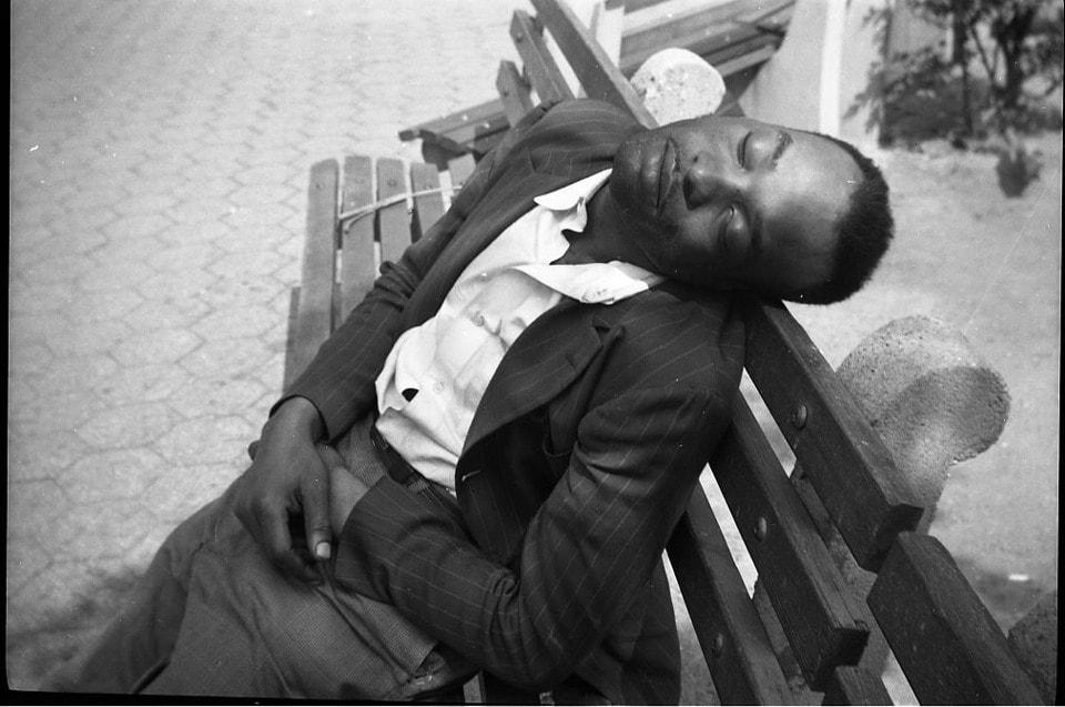 New York (Man Sleeping on Bench) 1955