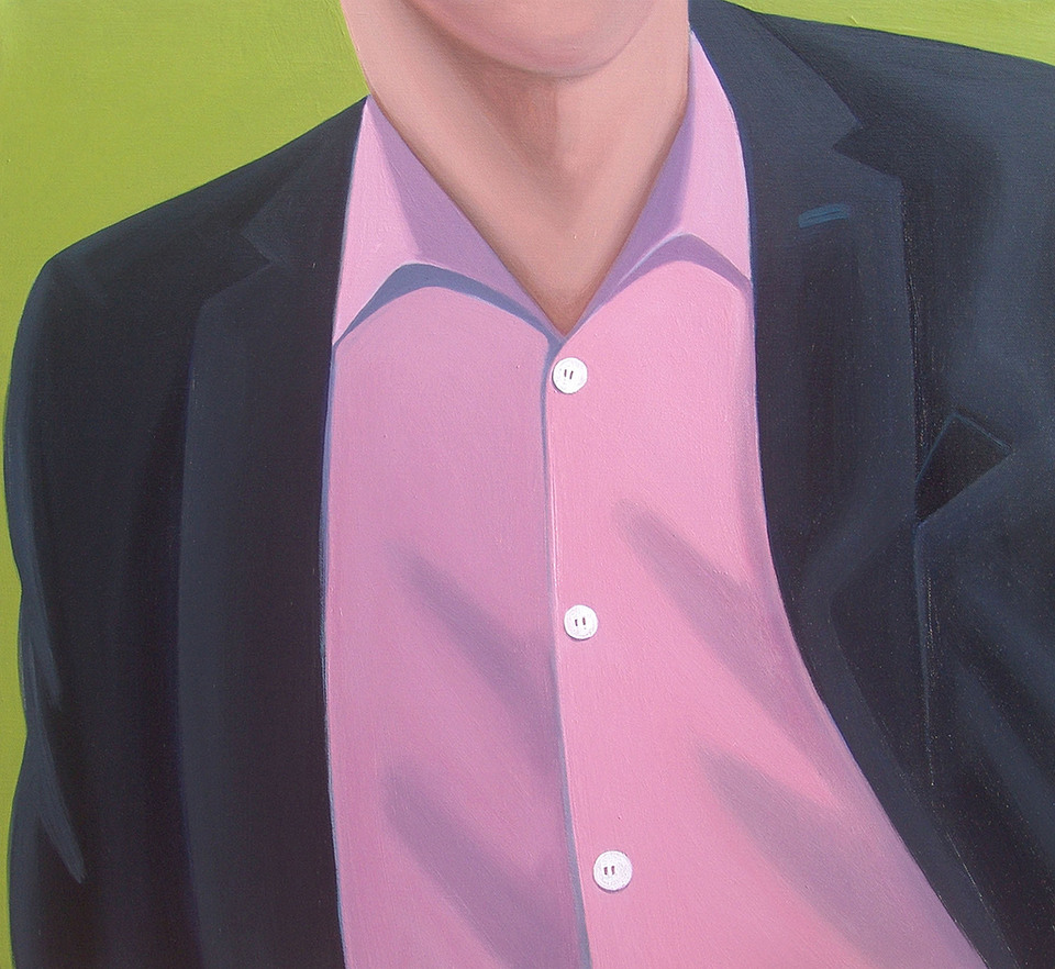 Study of a man with a pink shirt
