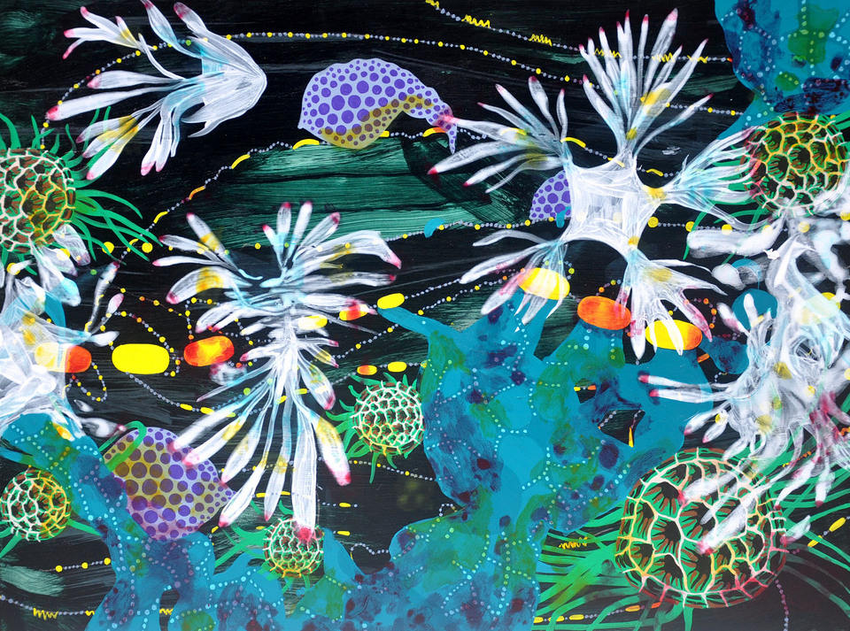 Trail Of Fireflies From The Sea | Acrylic on canvas .jpg