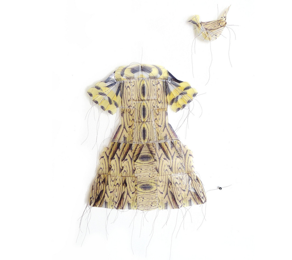 Garden Dress with Matching Bird