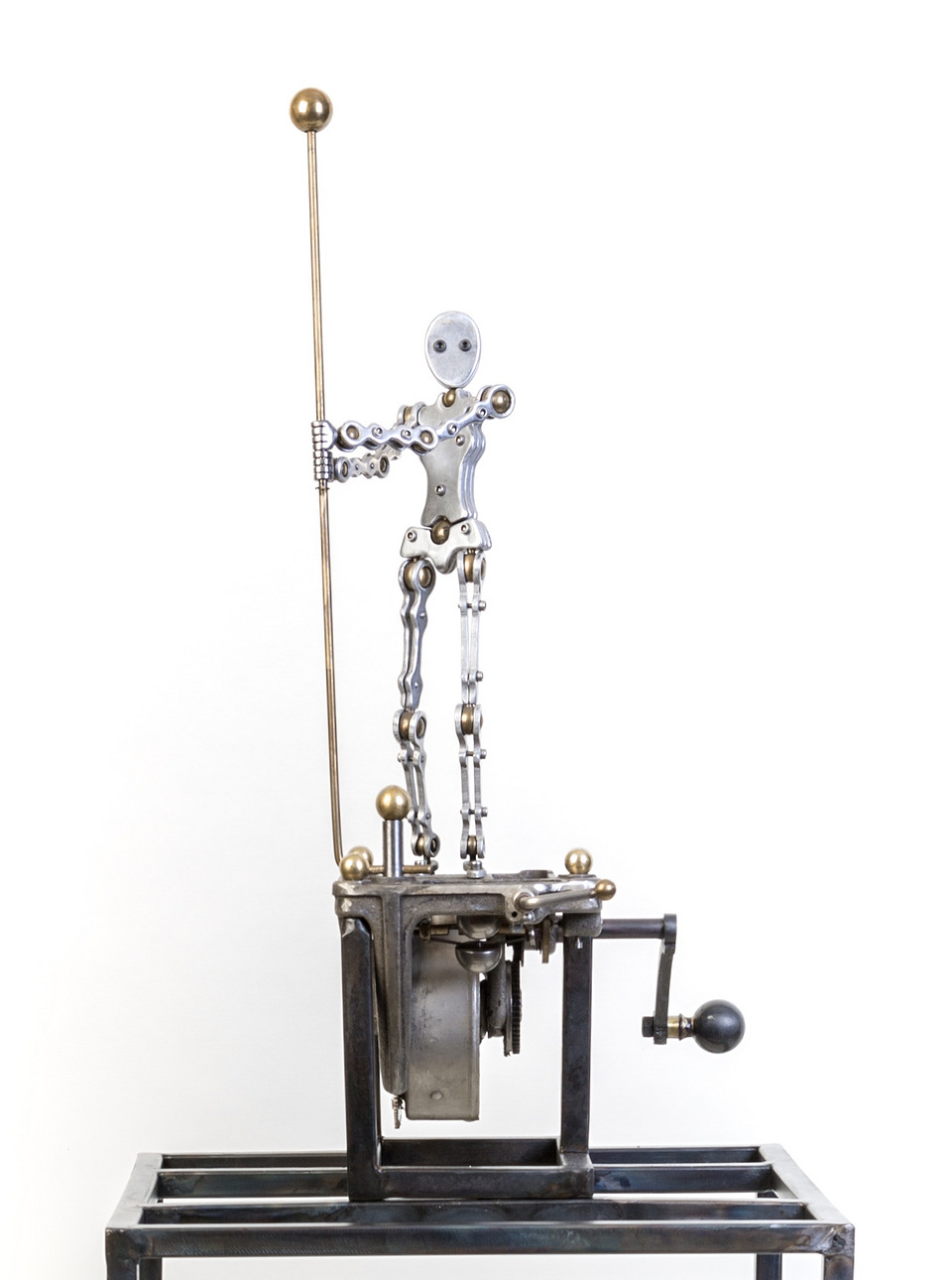 Workin It | Aluminium and brass, powered by Victor Victrola phonograph motor circa 1915 .jpg