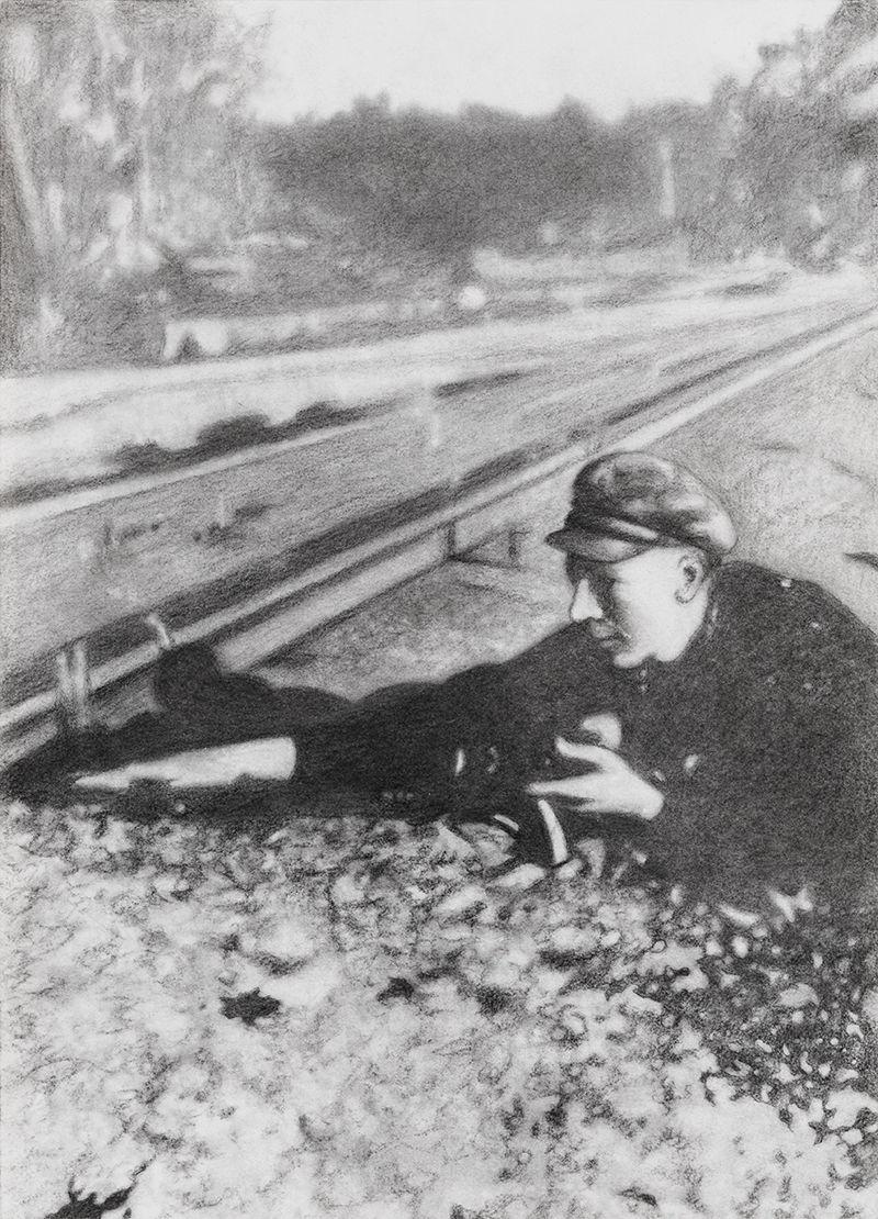 Boris Jochal Planting Dynamite, Vilnius