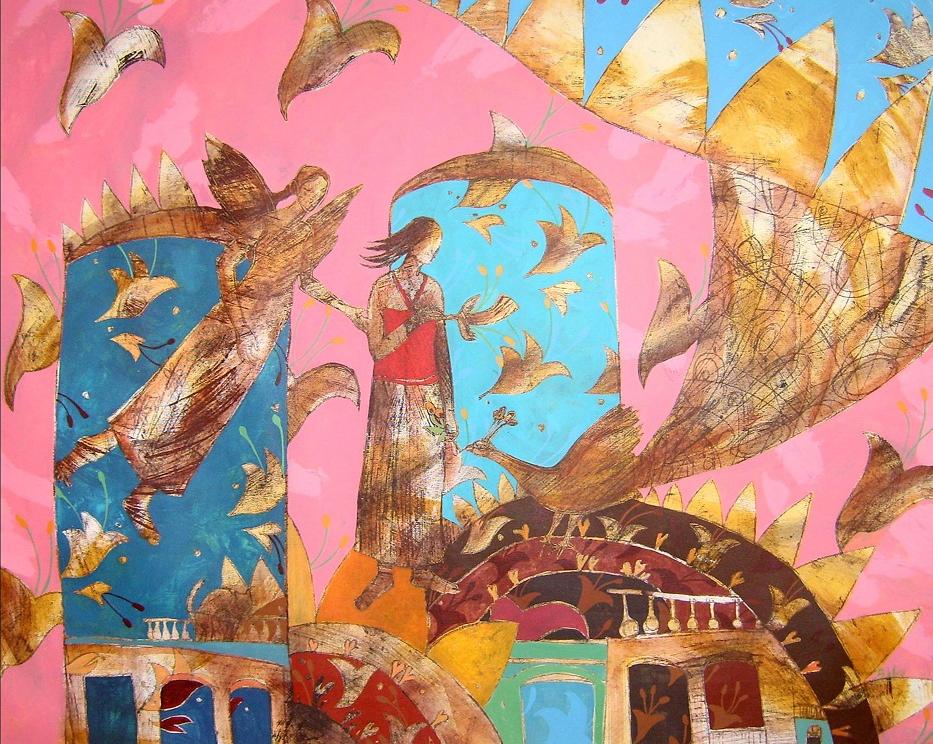 Angel de la Guarda.-2014-Acrilico sobre lienzo-90 x 110 cm