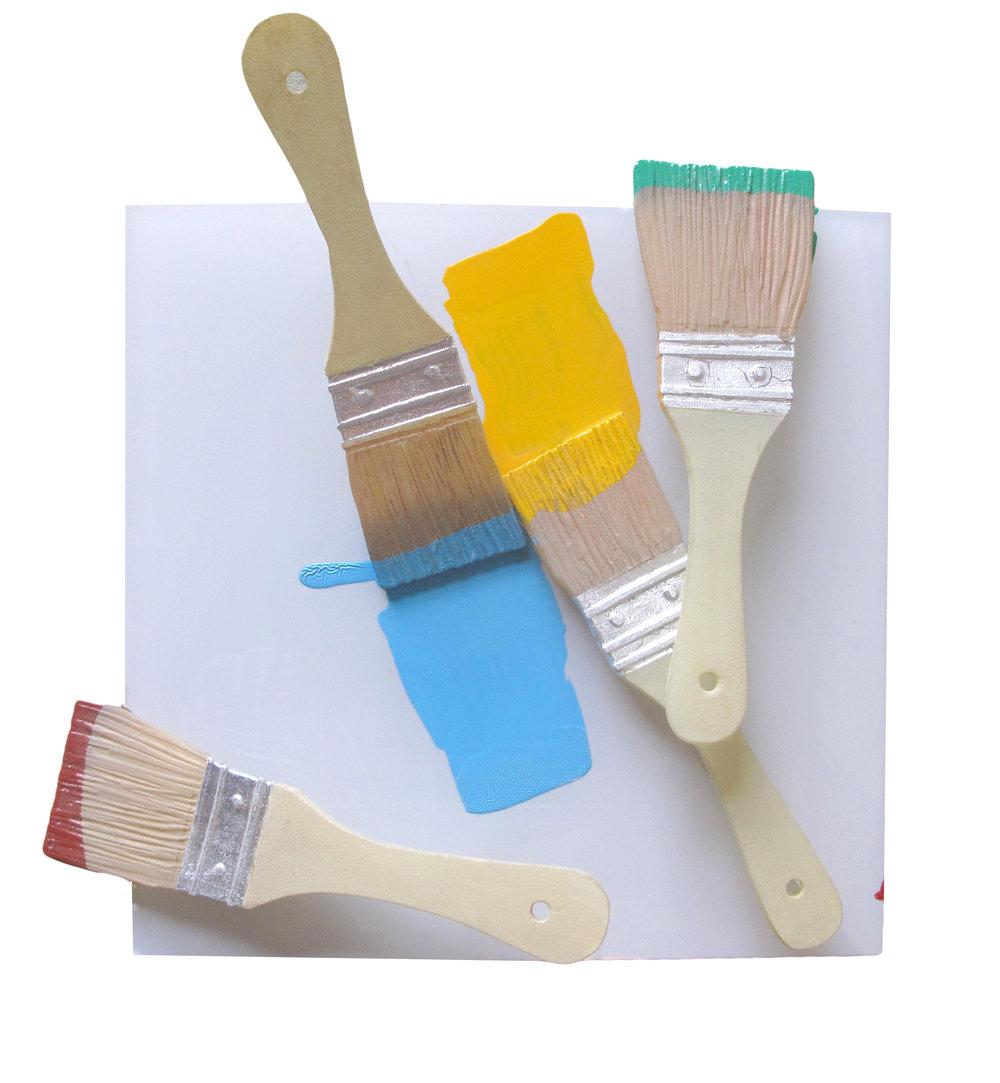 Brushes on White