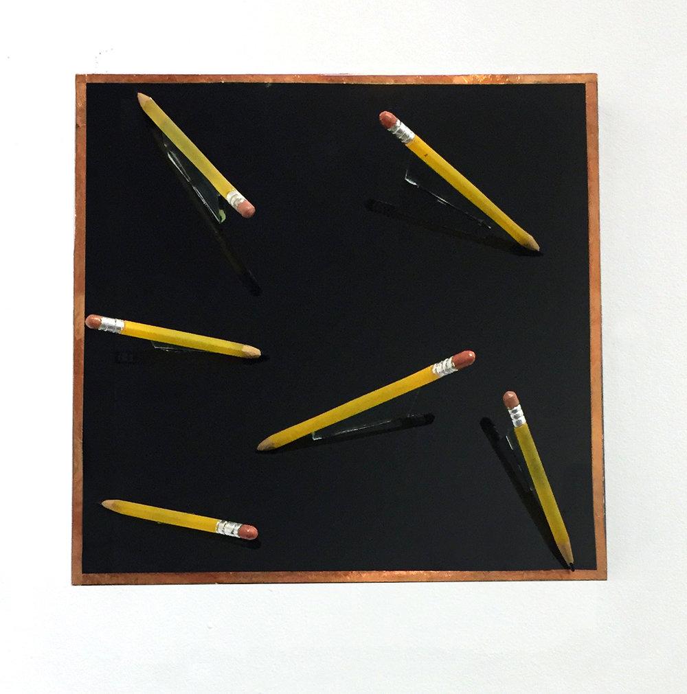 Pencils on Black