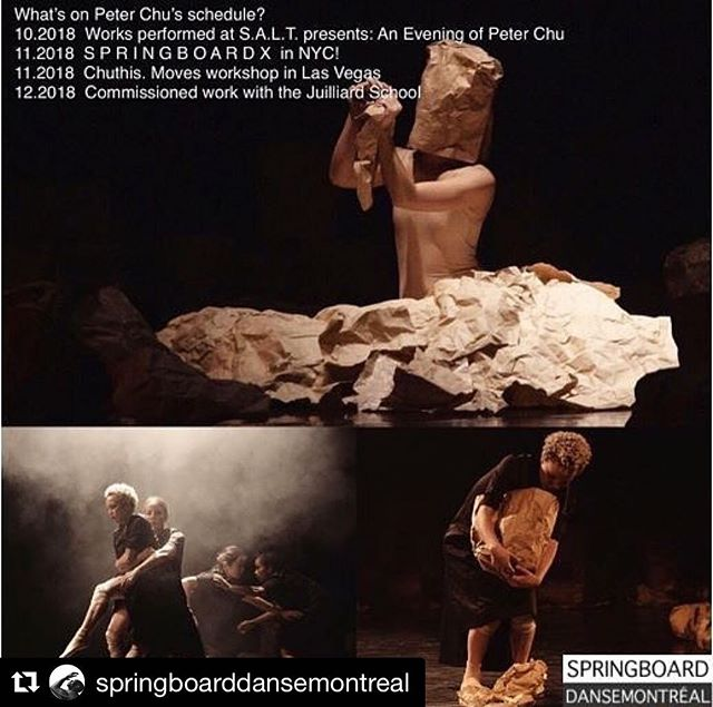 Very excited to be a part of Springboard X | shift perspective in a few weeks! You can still come join us - find all the info @springboarddansemontreal . . . #Repost @springboarddansemontreal with @get_repost ・・・ Peter Chu is keeping busy! ✨ He's teaching and choreographing his way through the Fall, with a stop at SpringboardX | shift perspective this November. Join him at @gibneydance! . . . 📷 courtesy of @pchuthis by Jeremy Le  #ShiftPerspective #SpringboardX #MasterTeachers #Collaborate #Gibney #workshop #DanceNYC Dancers: @shopingramscloset @krystakematsu @miriamgittens @jenniberth