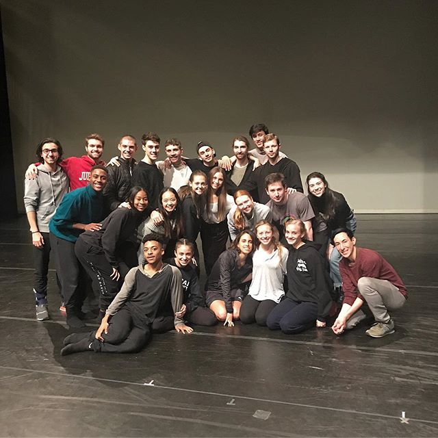 I'm so grateful to each of you for taking this journey with us over the past 3 months. It is a joy to work with such beautiful artists!!! 'Toi, toi, toi' on your last show...enjoy these moments together tonight! 💚 . . . #juilliard2020 #juilliardnewdances #playwellwithothers #gowithyourguts #yougetacontract