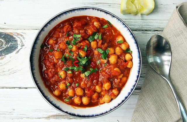 chickpea stew onepot vegan dinner plant based curry