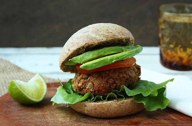 Wholemeal Vegan Burger Buns with Lentil & Carrot Patties