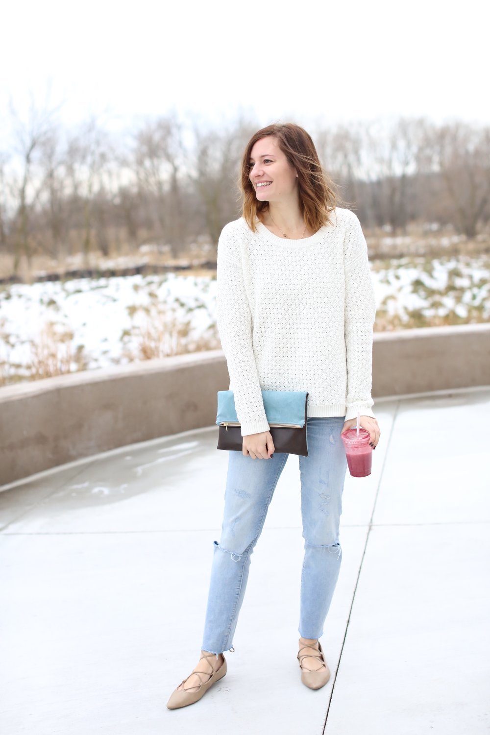 Old Navy Sweater | Clutch | Winter Outfit | Katelyn Now