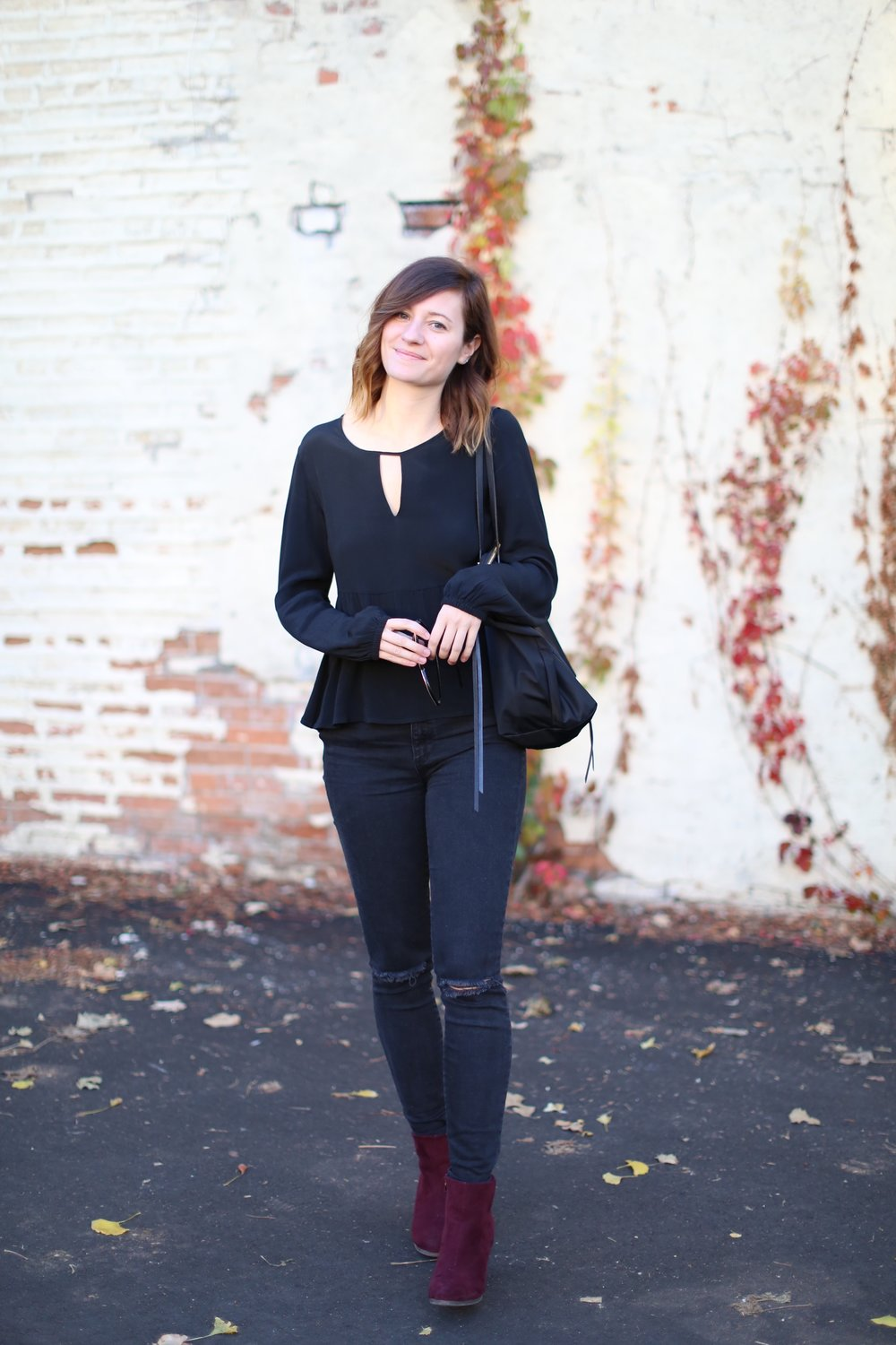 All Black | Woodbury Lane | Katelyn Now | Fall Style