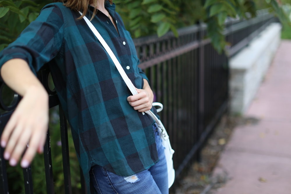 Buffalo Plaid | Bucket Bag | Katelyn Now