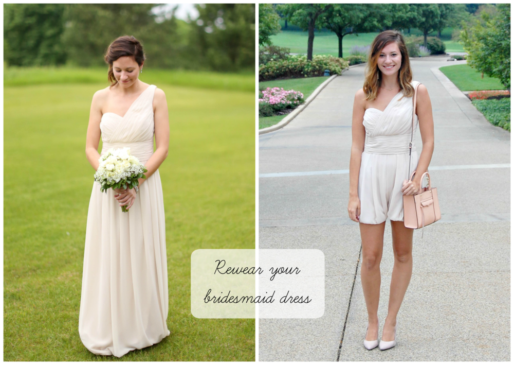 Bridesmaid Dress to Romper | Katelyn Now