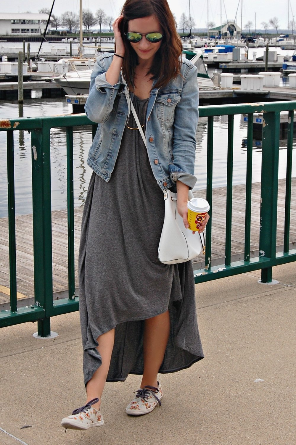 Grey Maxi Dress | Katelyn Now