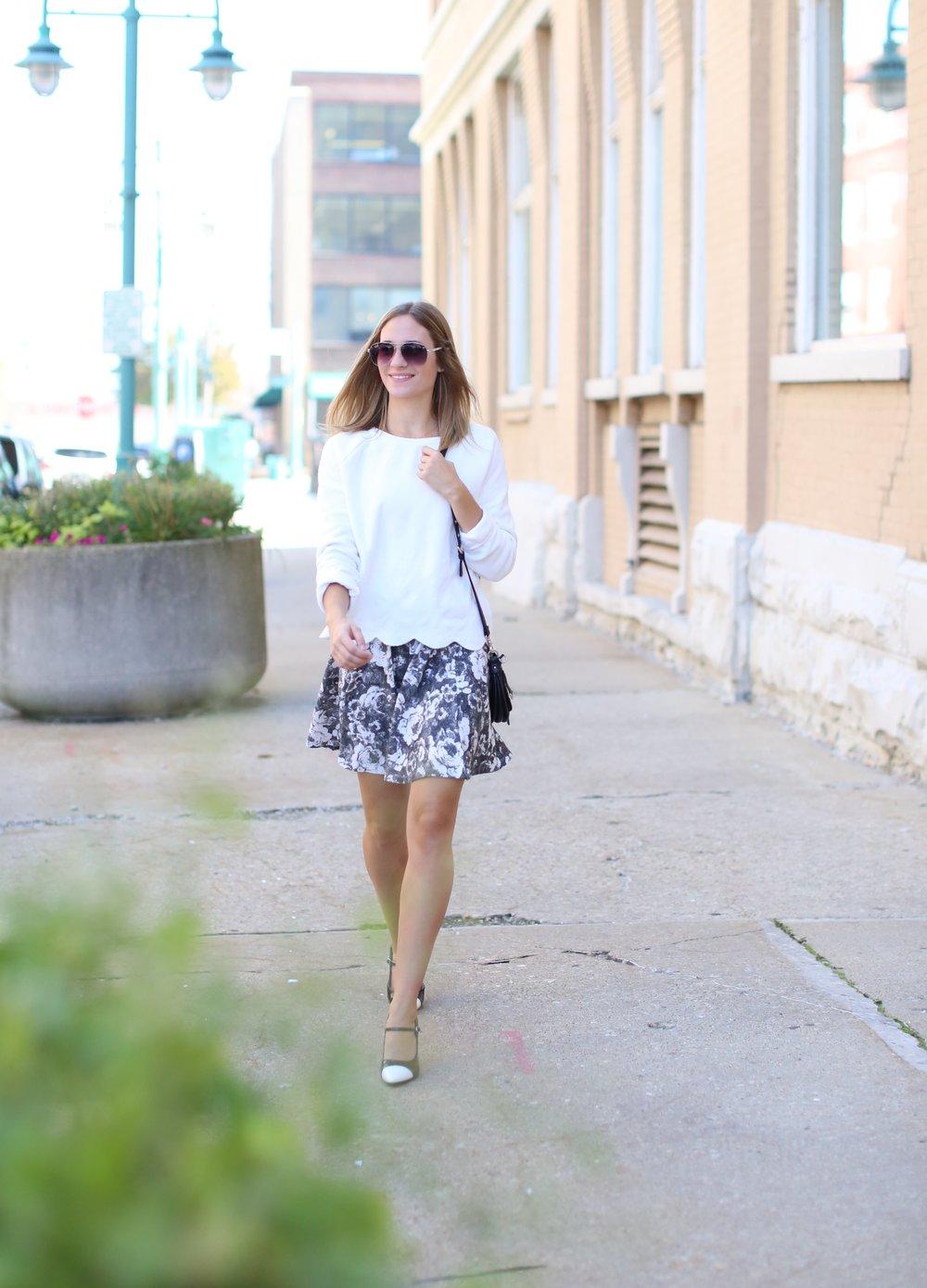 Black + White Outfit | Katelyn Now