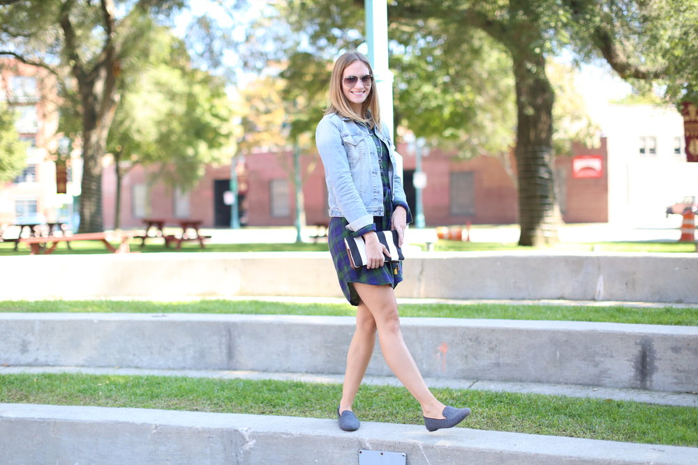 Plaid Shirtdress | Katelyn Now