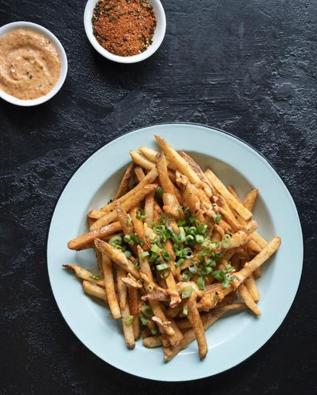 "FRY-DAY!! How can you make it to the weekend? Grab some of our amazing Japanese fries. Yeah, we can make them vegan, vegetarian, or top them with mushrooms and a fried egg. No matter what you can think up, we have you covered. Now say it with me... ""fry... YAY!"""