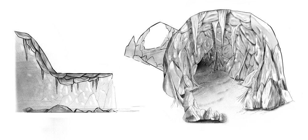 INTERIOR OF THE CAVE CONCEPT