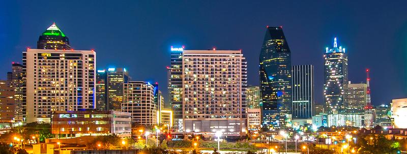 Dallas, TX by night