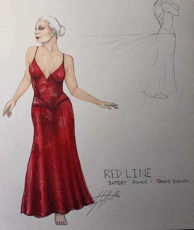 #dancedesign #workinprogress . . . . #costumedesign #costumedesigner #costume #dancecostume #reddress #silkcharmeuse #dance #biasdress #simple #unostentatious