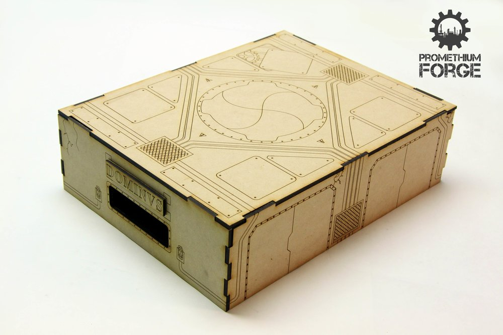 Picture of the Storage Box from the Deluxe Set, assembled.