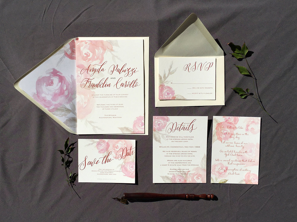 Full Invitation suite with Save the Date