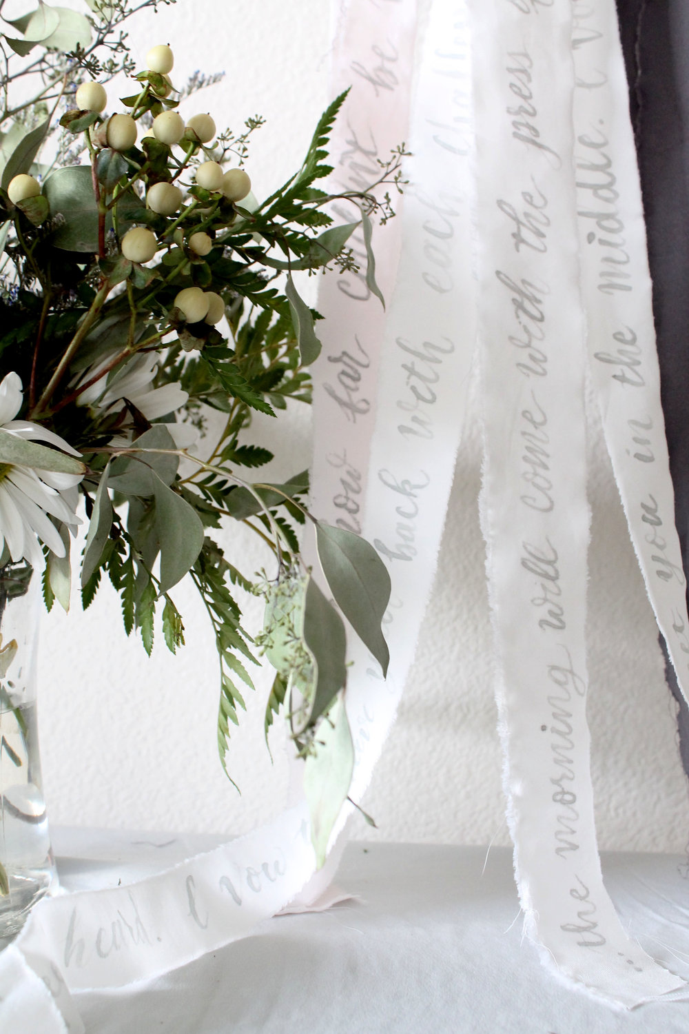 Ribbon calligraphy. Just might be my new favorite detail for weddings