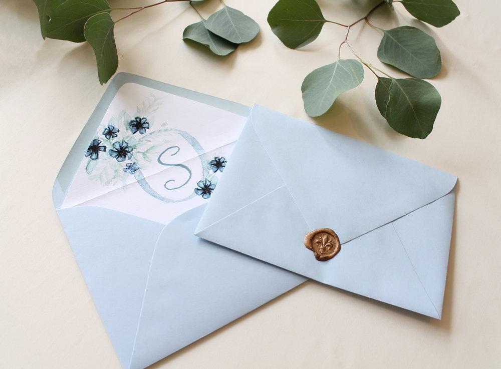 Blush and Blue Designs - wax seal Custom wedding logo wedding crest design