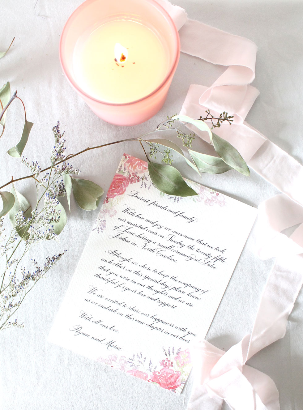 elopement letter for elopement announcement