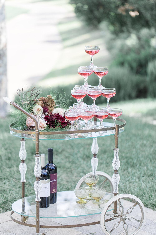 Wedding bar cart
