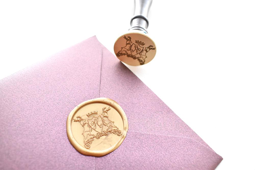 Custom wax seal design
