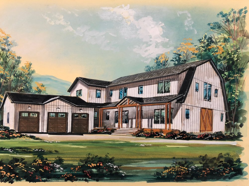 Front elevation rendering of our 2018 Parade Home