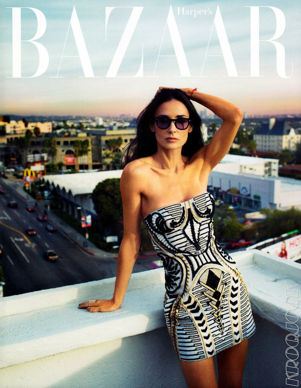 Demi Moore for Harper's Bazaar photographed by Cedric Buchet