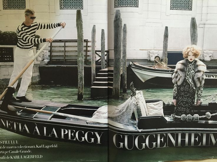 Peggy Guggenheim inspired fashion story shot by Karl Lagerfeld for Harper's Bazaar