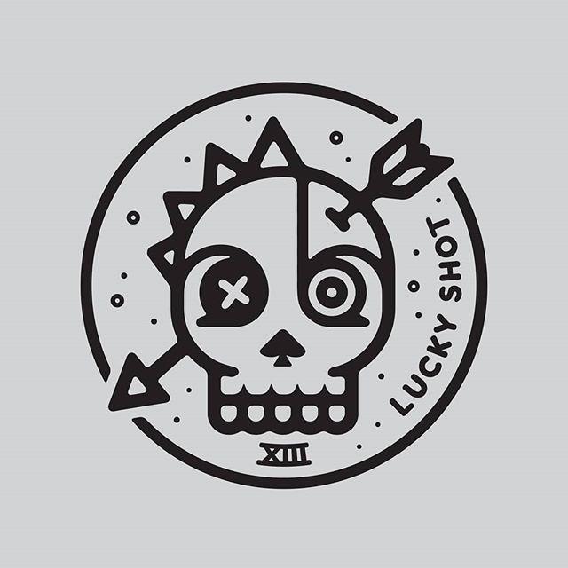Feeling lucky? #design #illustration #luckyshot #vector #skull #stickerdesign #luckynumber