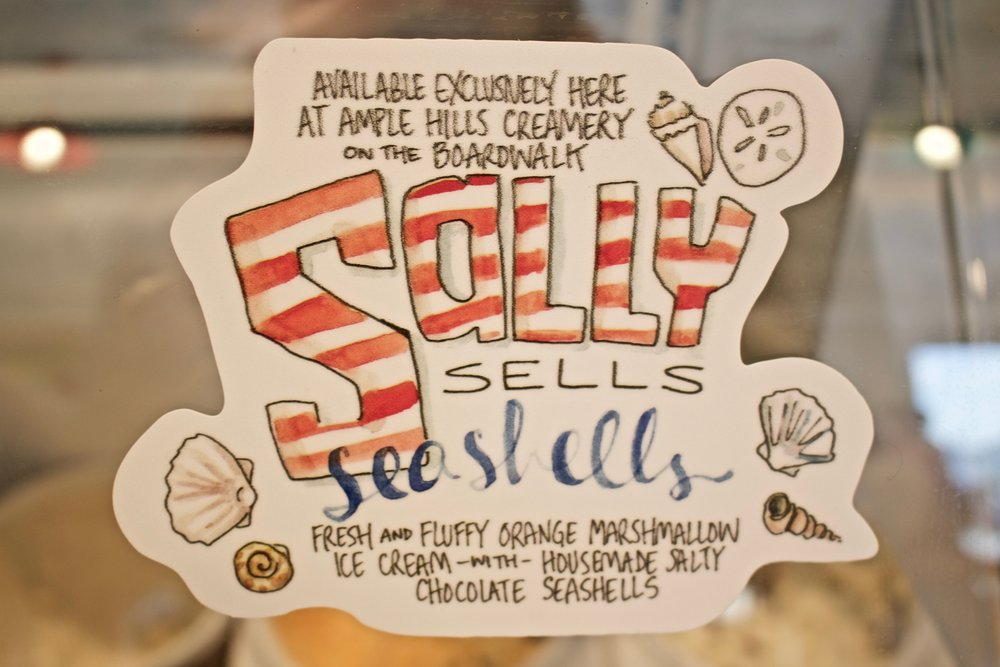 Sally Sells Seashells ice cream
