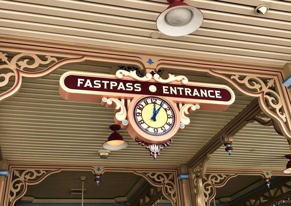 Toy Story Fastpass entrance Disneyland